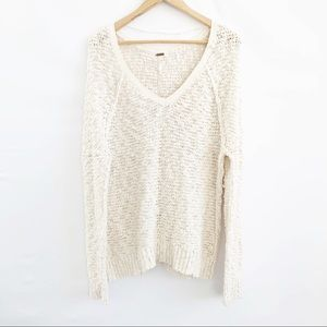 Free People  Pullover Sweater Ivory Small.